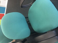 Green Office / Meeting room Chairs (used)