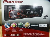 * AS NEW / BOXED * PIONEER DEH-4800BT * IPHONE / SMARTPHONE / BLUETOOTH CAR RADIO *