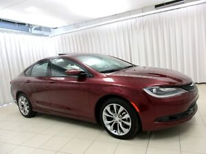 2015 Chrysler 200 S SEDAN w/HTD LEATHER, BACKUP CAM AND SUN ROOF