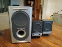 Altec lansing computer speakers with sub woofer