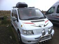 Mercedes Vito Camper van, sleeps two.