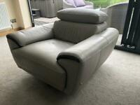 Italian made leather sofa and chair from Sofology (Sofaworks)