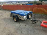 Ifor williams p5e trailer with cover and chequered floor