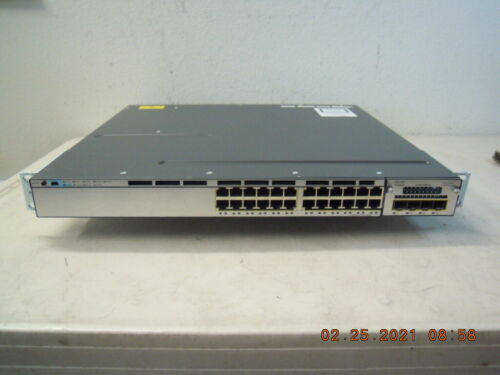 Cisco WS-C3750X-24T-L 24-Ports 1GE Switch + 2 x CK3X-PWR-350WAC P/S * Tested