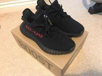 Adidas Yeezy Boost 350 v2 CP9652 Pirate Bred Core Black/Red UK 6.5