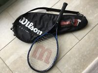 Quality WILSON HAMMER 6.7 Tennis Racket Head Size 36cm x 26cm All Strings Complete with zip case