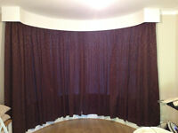 90 x 90 Curtains for bay window (x2 pairs)