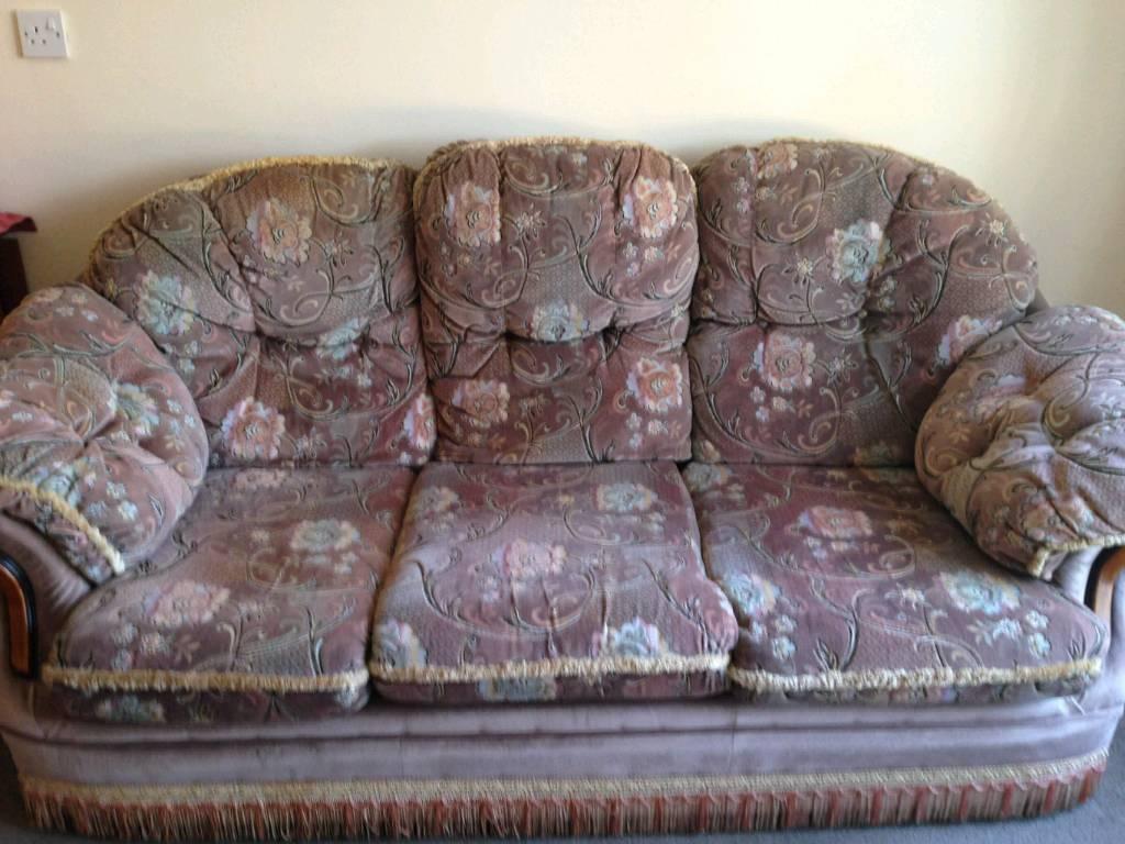Setee/Armchair/Footrest for sale.