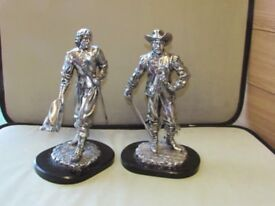 VERY RARE Large & Heavy Pair of Cavaliers from Silver Dreams by Leonardo