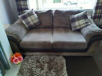 3 Seater 2 Seater Sofas and Storage Pouffe