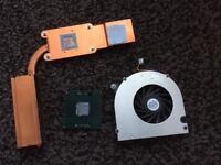 Laptop cpu heatsink & fan