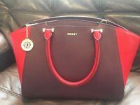 DKNY Maroon Leather Satchel Bag RRP £300