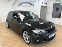 BMW 1 SERIES 2.0 118D M SPORT 5d AUTO 141 BHP 18 INCH ALLOYS + (black) 2011