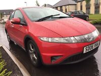 HONDA CIVIC 2.2 DIESEL 140 BHP YEAR MOT ONE LASY OWNER FROM NEW IMMACULATE CONDITION