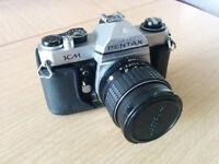 35mm film Pentax KM SLR Camera and Lenses