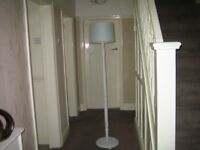 LOVELY SOLID WOOD HAND PAINTED FLOOR LAMP
