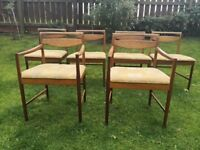 Six lovely retro & original McIntosh dining chairs £65
