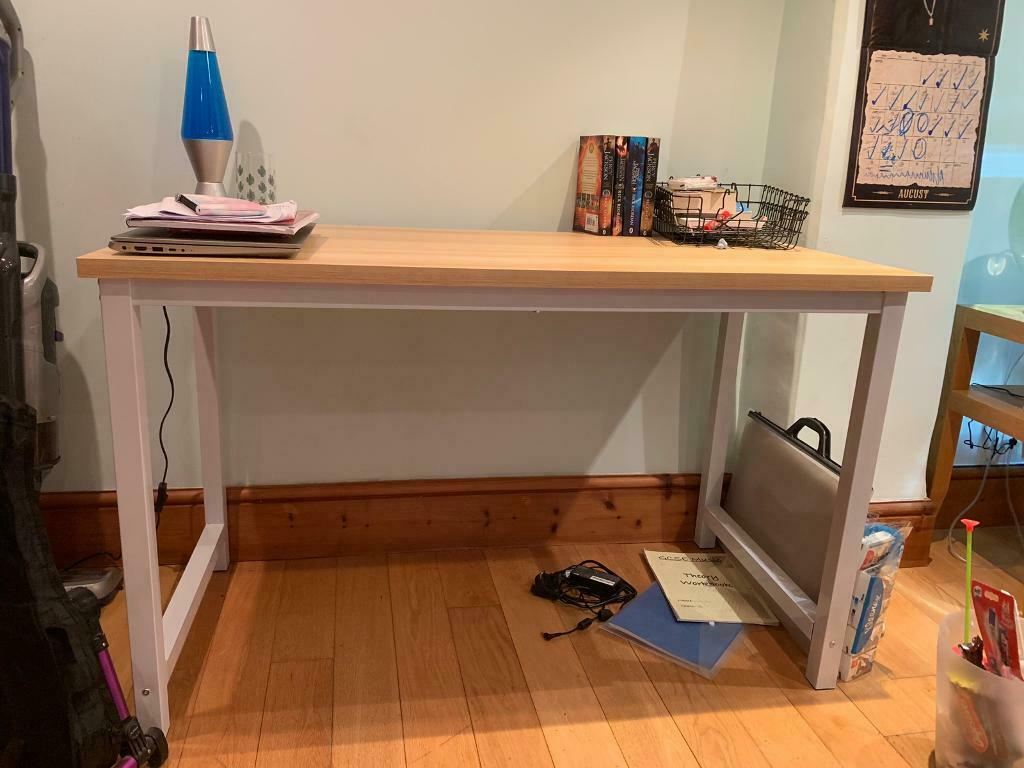 Light Wood Effect And White Desk In Rugby Warwickshire Gumtree
