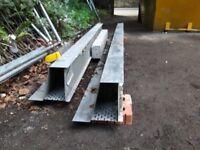 2 x 2.7m reclaimed catnics and 1 x 1.3m concrete lintel
