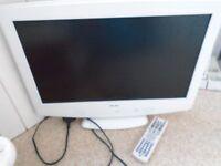 WHITE TV (BUSH TELEVISION) WITH REMOTE CONTROL 19 INCH