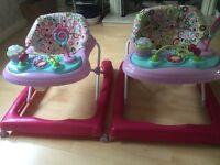 2 baby walkers