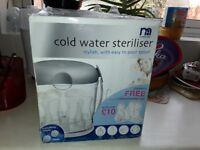 Cold water steriliser from Mothercare only £5