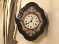 Late Victorian French Vineyard clock