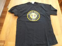MENS BLACK T.SHIRT UNITED STATES ARMY .