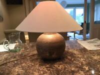 Table lamp 23 cm high, with shade 50 cm diameter