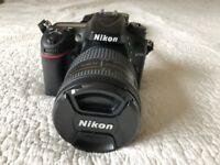 Nikon d7100 Digital SLR 24Mp. Nikkor 24-85mm F2.8-4 macro lens, SD Card and bag