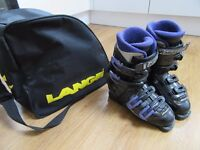 Ladies NORDICA NXT High Performance Ski Boots size 6.5 (25.5) with LANGE boot bag