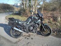 Yamaha TDM 850 custom army rat chop trail bike loads spent