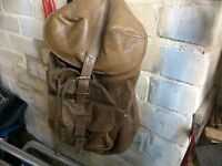 Rucksack/Backpack 1980's real quality small/medium brown leather