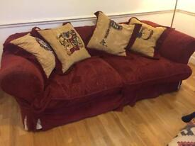Double Sofa with removable washable cover. 2.13m x 1m. Good condition. Quick sale, space needed.