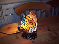Tiffany Glass Butterfly Lamp