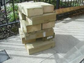 12 blocks of off cut wood ideal for crafts etc