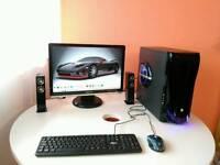 "Intel Core i5 Gaming PC full setup,Win 8.1Pro,1Tb HDD,8Gb RAM,2Gb GeForce GT630,22"" Samsung monitor"