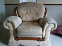 Two Twin Seater Settees and Arm Chair