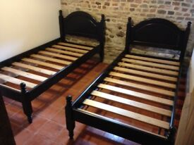 Sturdy single bed frames, barely used, immaculate condition
