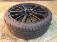 "Black Nissan micra note Alloy wheels 18"" inch Fiat punto Mazda rx7 rx-7 Hyundai Kia alloys wheel"