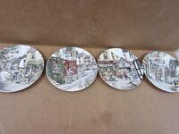 4 x Royal Doulton Window Shopping Plates - price all 4 -