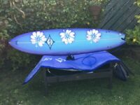 """Crab Island surfboard 7' 4"""" x 21"""" as new condition"""