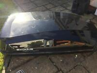 Halfords Exodus Roof Box 470L and bars black gloss