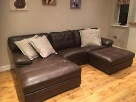 L Suite. 4 seater and footstool from scs. Only 3 years old!