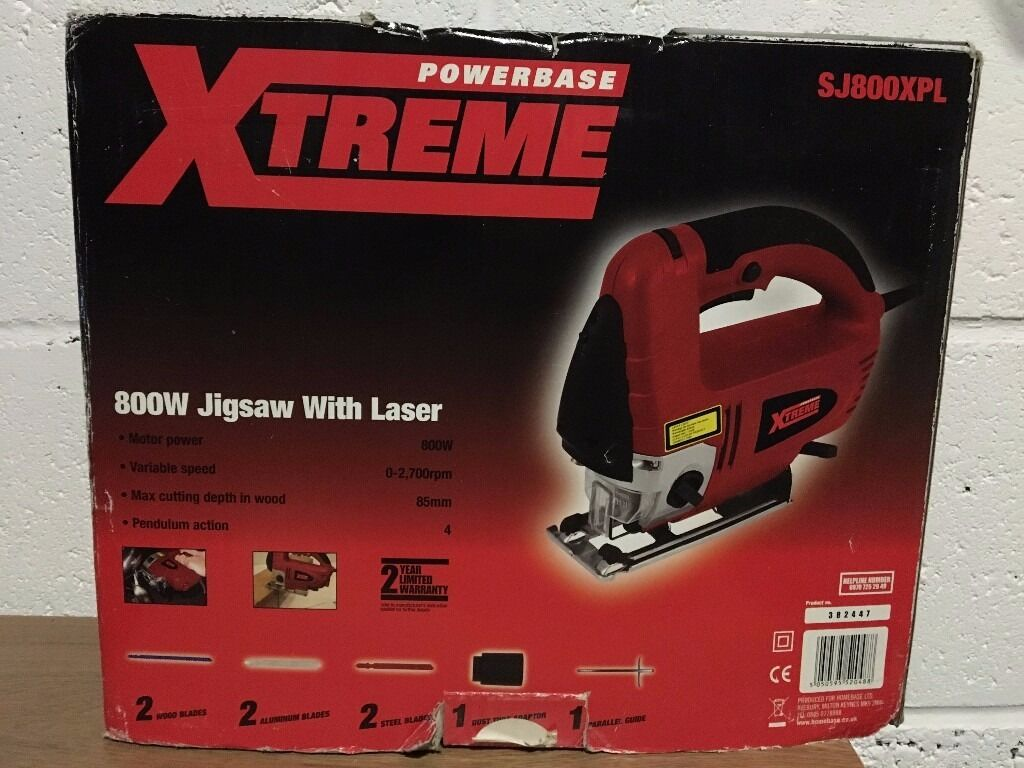 800W Jigsawin Staines upon Thames, SurreyGumtree - 800W Jigsaw Powerbase Extreme SJ800XPL 800W Jigsaw Complete package with several blades and cutting guide. In great condition