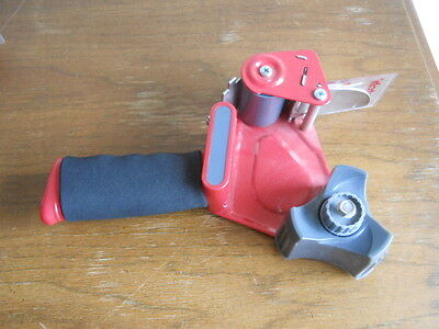 3m Scotch Heavy Duty Shipping Packing Tape Gun Grip Dispenser Packaging Red Used