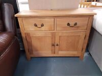 Brand New 2 Door 2 Drawer Oak Sideboard Is Now Only £159. Was £249. Already Built For You.