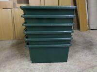 Plastic Storage Boxes Lot of 6