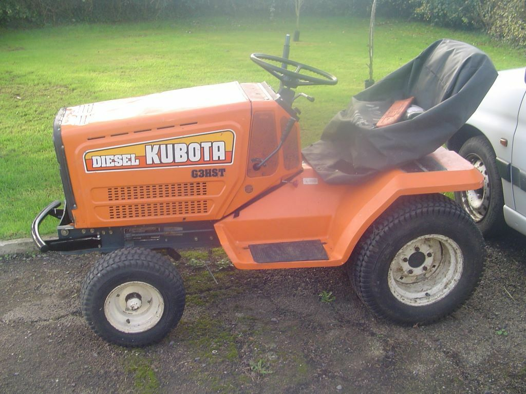 Diesel Operated Tow Tractor : Lawnmower tractor ride on lawn mower tug kubota g hst