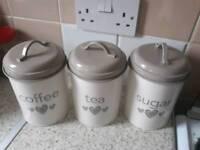 Tea sugar and coffee set